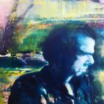 Nick Cave, olieverf op doek 50 x 60