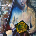 Boxer Framed 100x140 olieverf