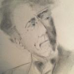 Mahler, potlood op papier